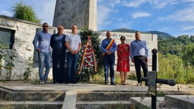 Memoria Eroilor Martiri Mineri cinstită de autoritățile de la Uricani