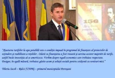 Comunicat PSD Petroșani / Cine a scumpit apa: Tiberiu Iacob Ridzi a votat hotărârea de scumpire a apei și acum se dă fată mare de teamă că va pierde voturi!