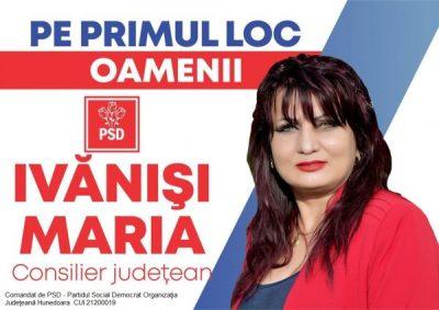 Profil de candidat al PSD Lupeni pentru Consiliul județean Hunedoara: MARIA IVĂNIȘI