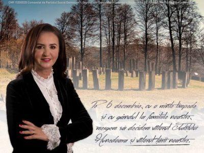 """Natalia Intotero: """"Pe 6 decembrie, cu o minte limpede și cu gândul la familiile noastre, mergem să decidem viitorul județului Hunedoara și al țării noastre"""""""