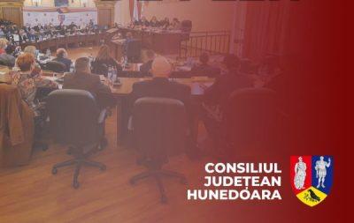 Consiliul județean Hunedoara / Anunț ședința publică a CJH din 30.07.2021