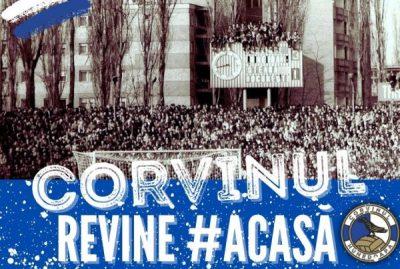 """Brandul """"FC Corvinul 1921"""" s-a întors, oficial, acasă, la Hunedoara"""
