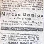Moarte directorului Mircea Damian anul 1848