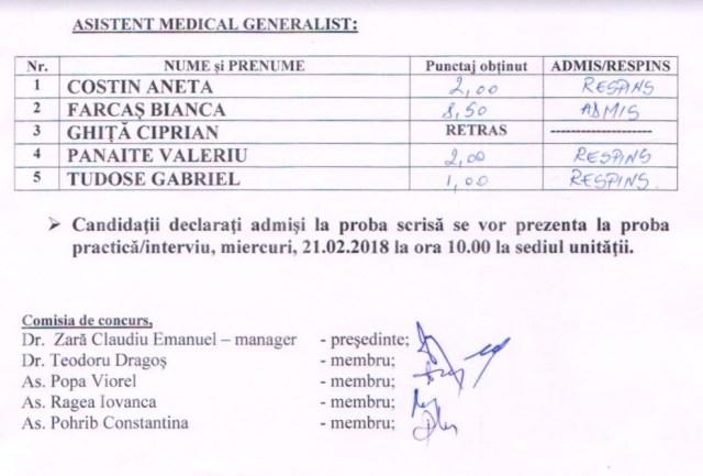 Concurs spital Tecuci