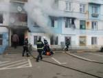 Incendiu cu victime la Tecuci