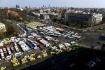 Transportatorii au protestat astăzi la București, în fața Guvernului