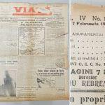 Viața, director Liviu Rebreanu, pagina 1 din 7 februarie 1944, discurs Mihai Antonescu, – Kopi