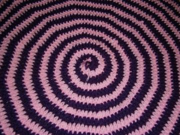 Purple and Pink Spiral Rug
