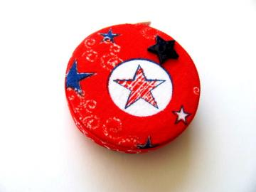 Patriotic Fabric Pocket Tape Measure