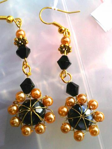 black swarovski earrings
