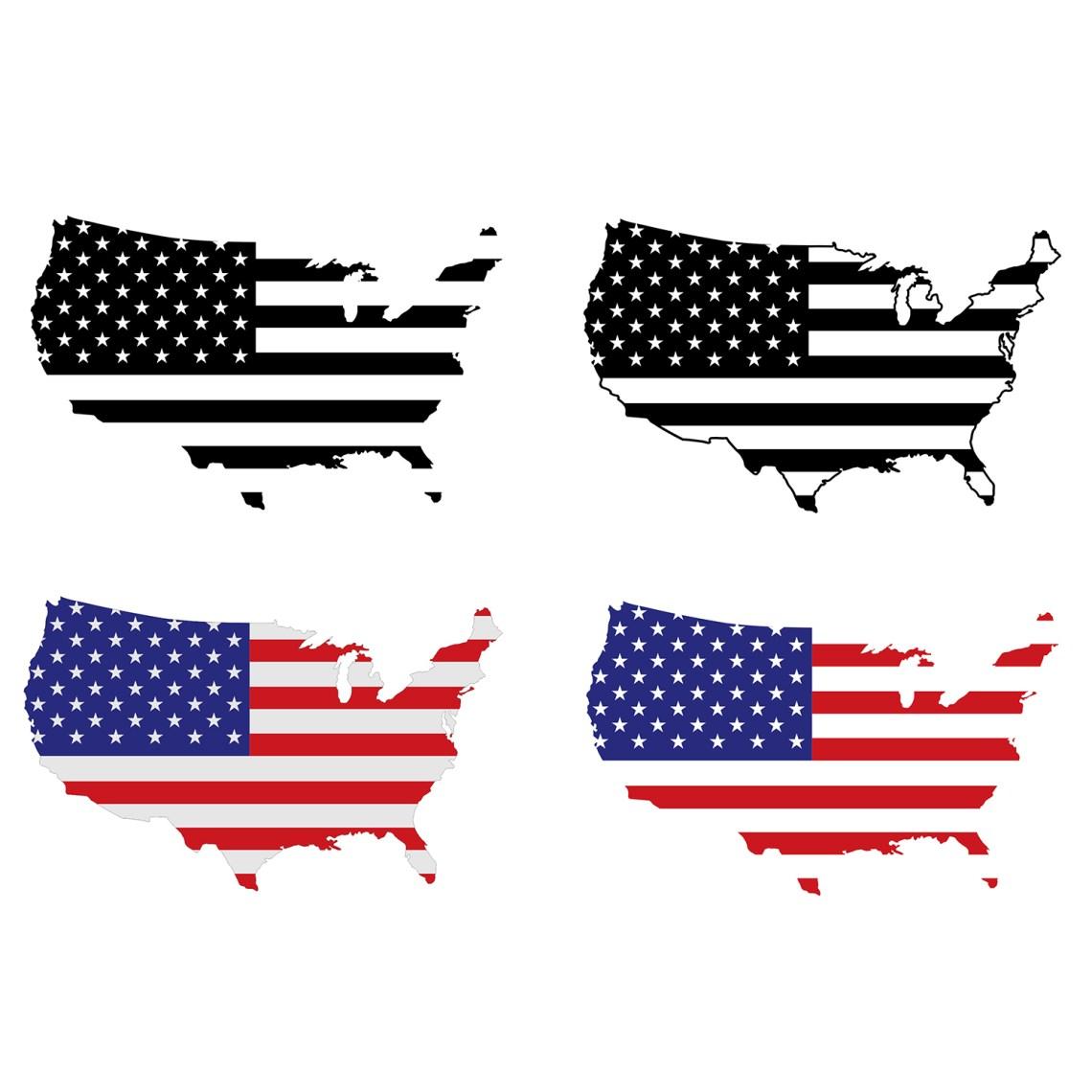 Download American Flag Usa Logo Map Design SVG DXF EPS | vectordesign