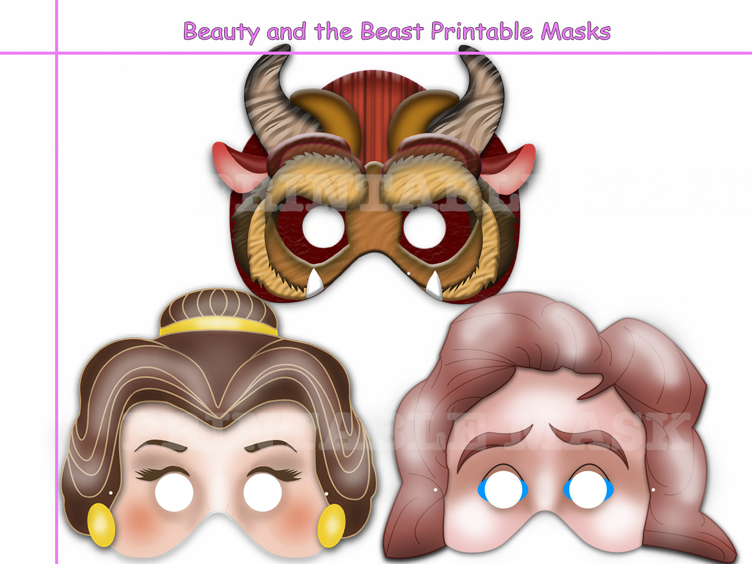 Unique Beauty And The Beast Printable By Holidaypartystar