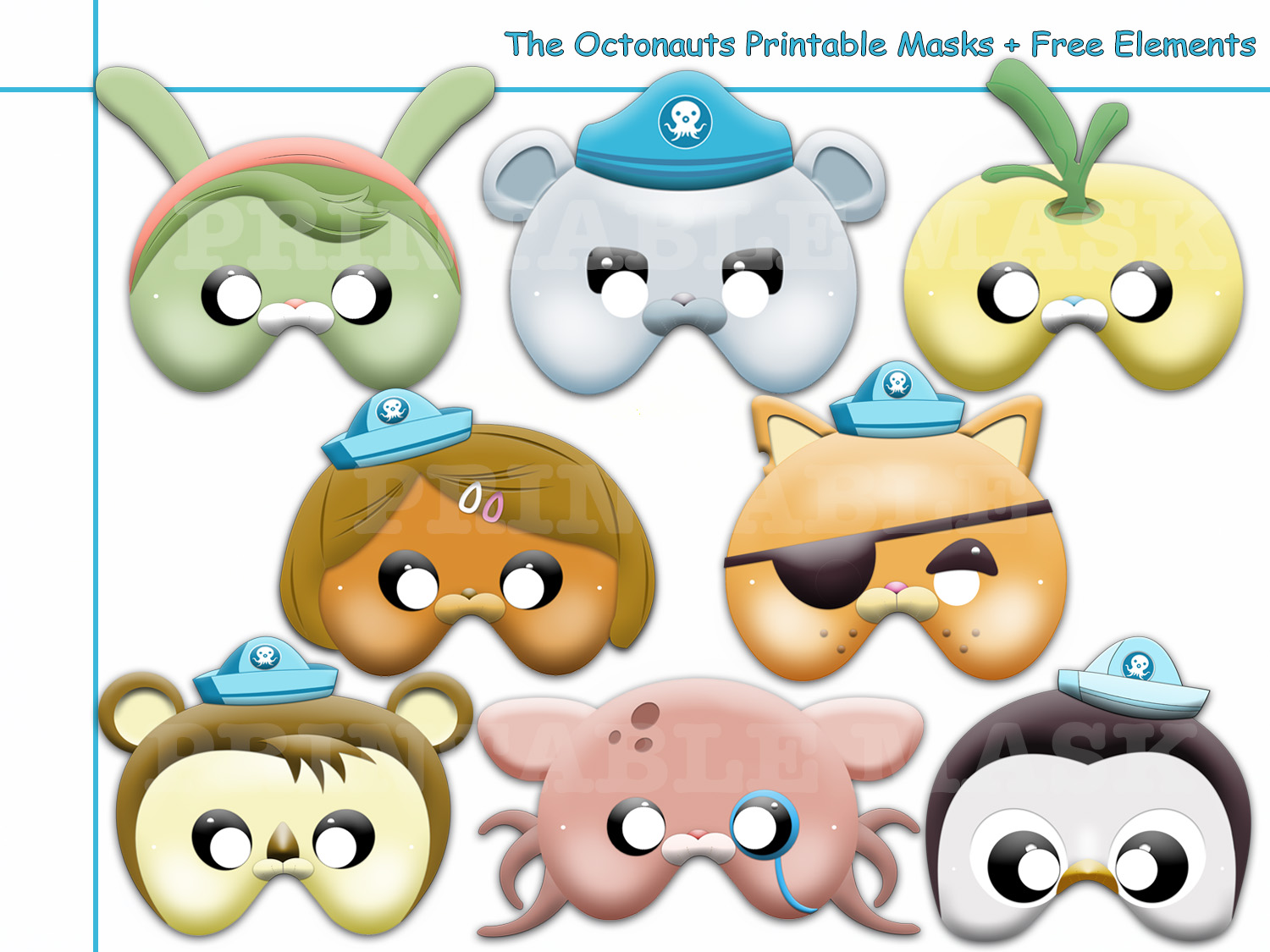 Unique The Octonauts Printable Masks