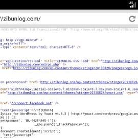 スマートフォンでページのソースを表示