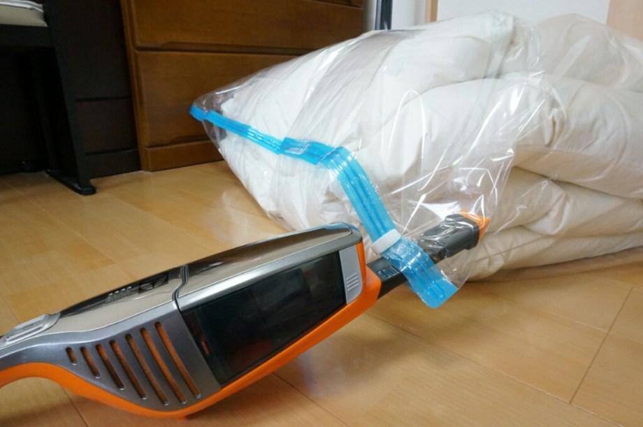 布団圧縮袋 吸引