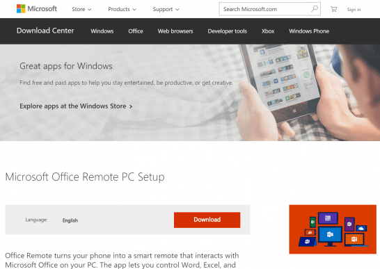 Microsoft Office Remote PC Setup