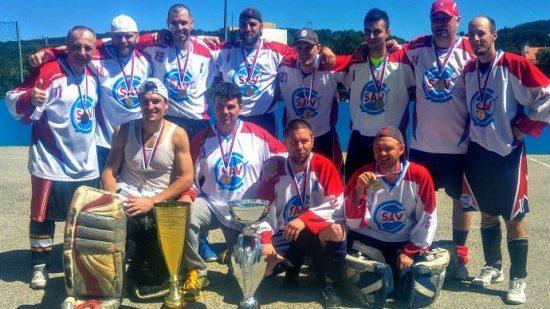 Hokejbalovy team SAV Lamac