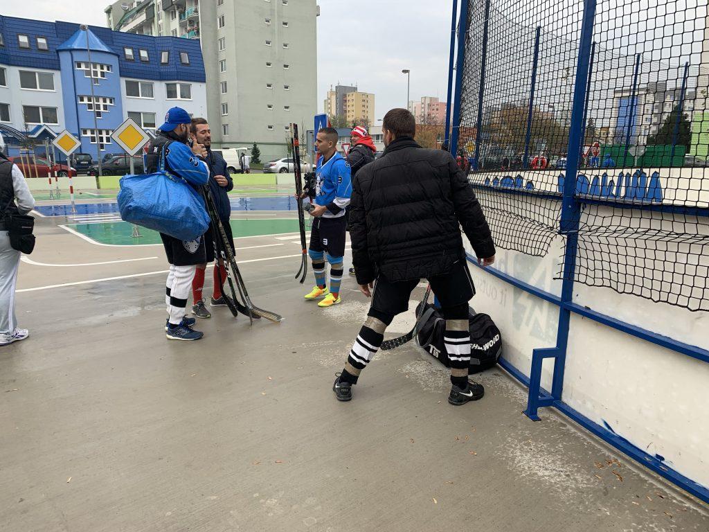 BHBL Hokejbalový zápas HBK Ramiland Vrakuňa vs Ziegelfeld