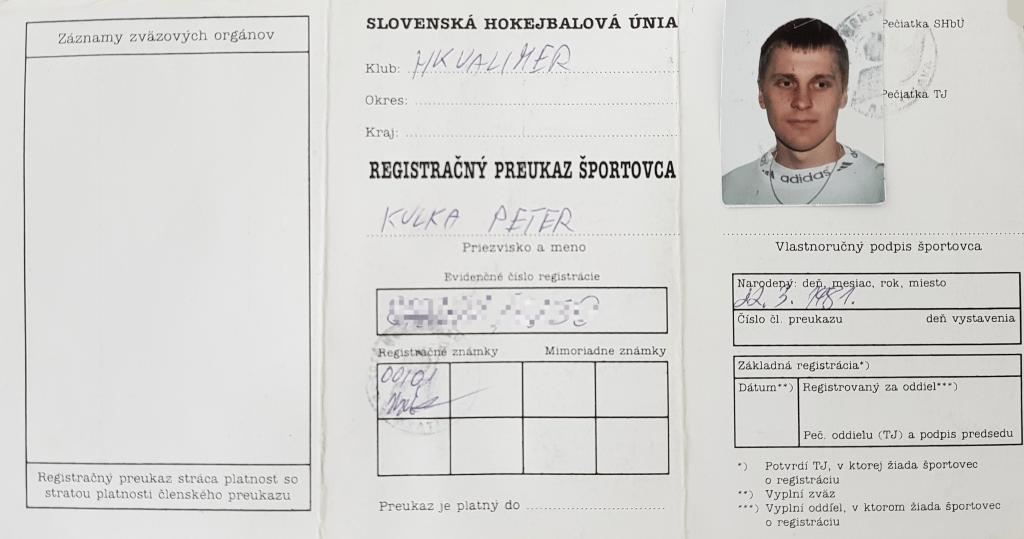Peter Kulka - hráč hokejbalového klubu Ziegelfeld, ktorý hraje BHBL - Bratislavskú hokejbalovú ligu