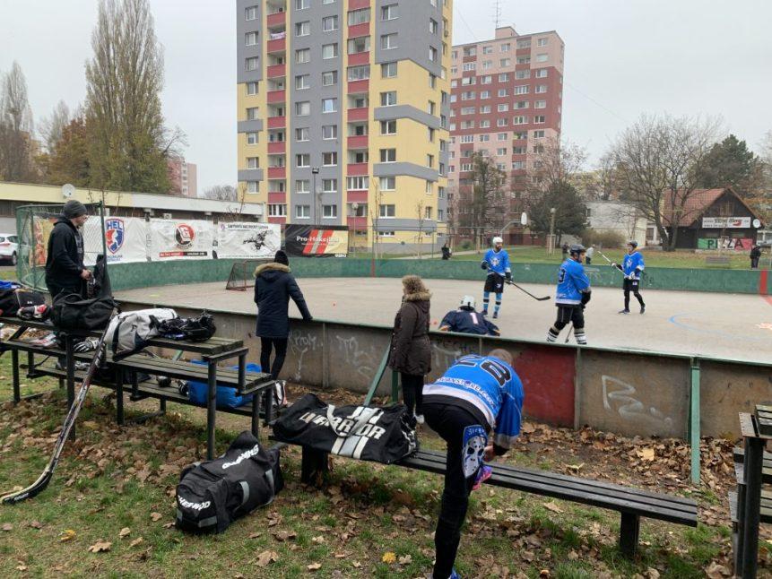 Hokejbalový zápas BHBL Barbari Bratislava vs Ziegelfeld
