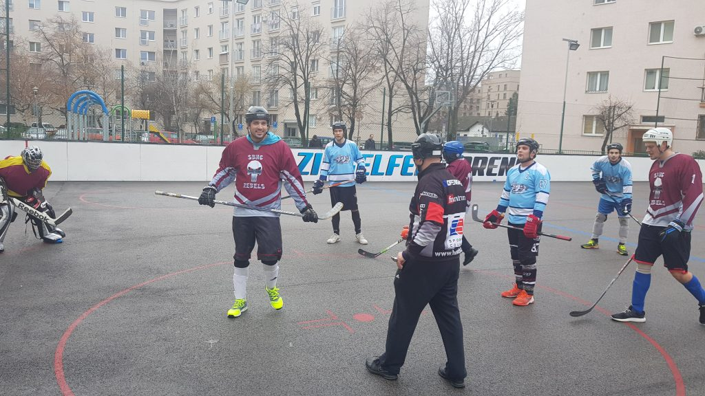 Hokejbalový zápas BHBL : HBK 500 Nivy vs SBHC Rebels