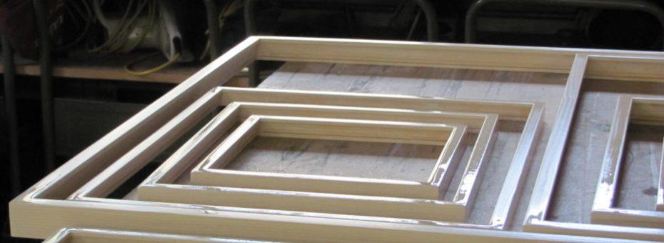 frisch lackierte Rahmen