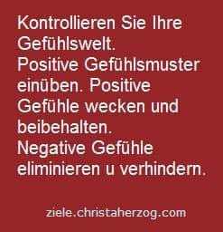 positive gefühle wecken und beibehalten