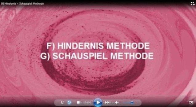 Hindernis & Schauspiel Methode