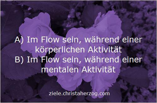 Im Flow sein während körperlicher oder geistiger Tätigkeit