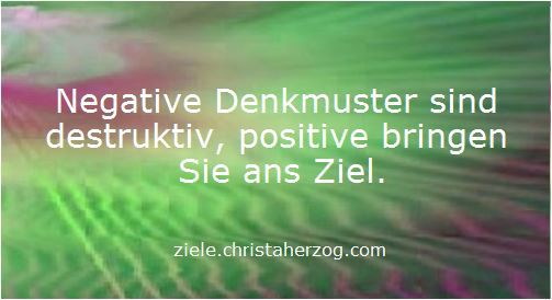 positive und negative Denkmuster