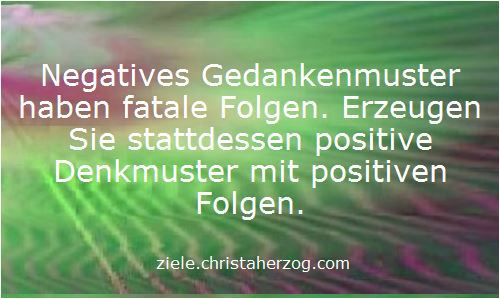 Positive versus negative Gedankenmuster