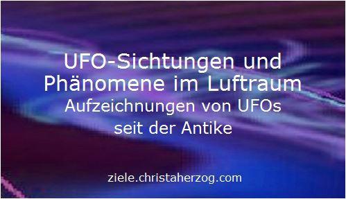 UFO Sichtungen, Abstürze und Aufklärung