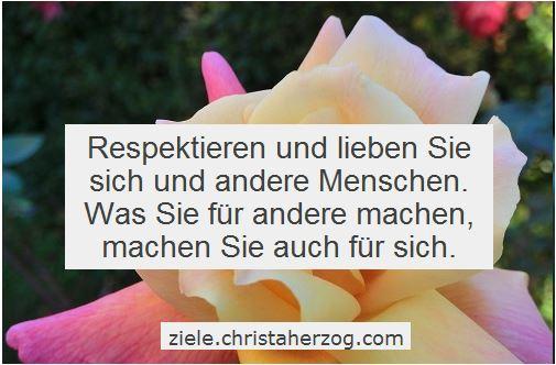 Respektieren und lieben Sie sich und andere