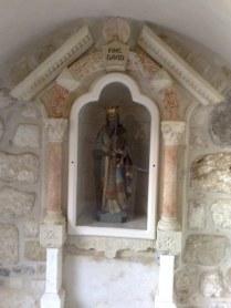 Król Dawid również wywodzi się z Betlejem, stąd i Jego figura na tym miejscu.