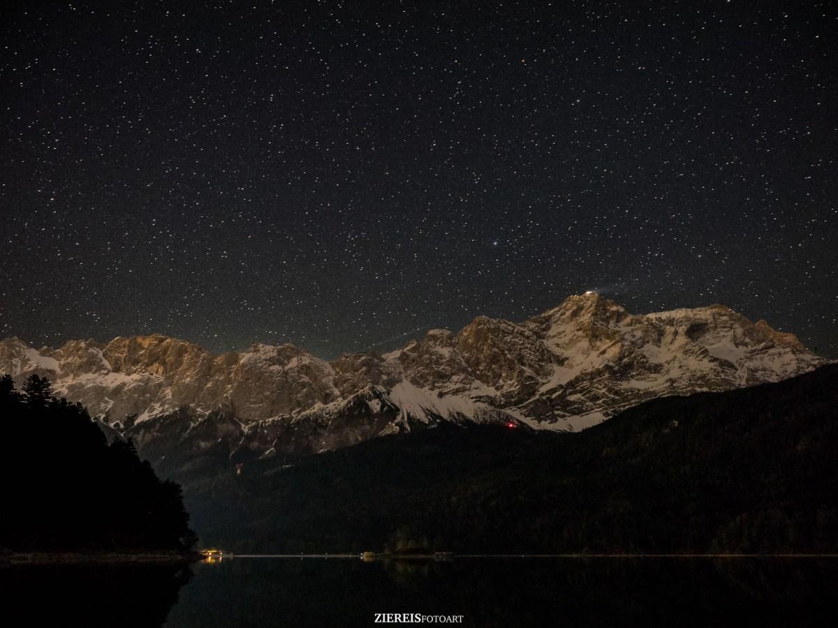 Eibsee bei Nacht