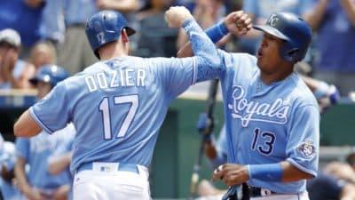 Hunter Dozier And Salvador Perez