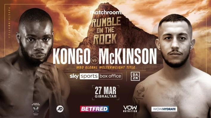 Kongo Mckinson Undefeated Welterweights Collide