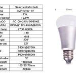 Ampoule RGBW culot E27