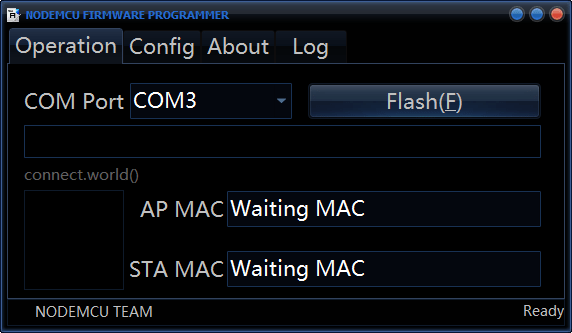 NodeMCU-Flasher-Begin
