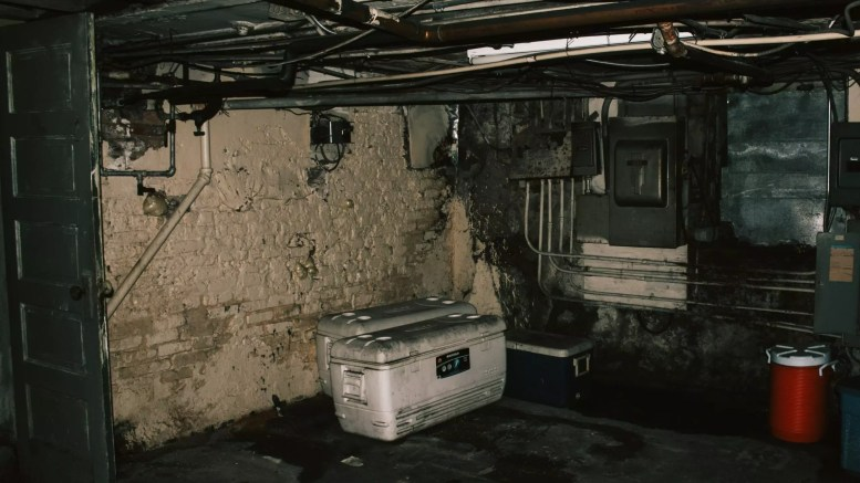 basement two white chest chillers