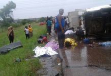 Pretoria Accident in Pictures - Kombi coming from Zimbabwe KILLED Everyone