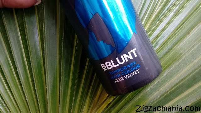 BBLUNT One Night Stand Temporary Hair Color (Blue Velvet): Color, Price, Packaging, Online avaiability