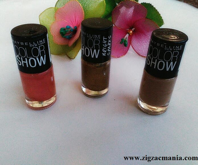 Maybelline Color Show Nail Paints (Chrome Pink, Burnished Gold & Nude Skin) Review