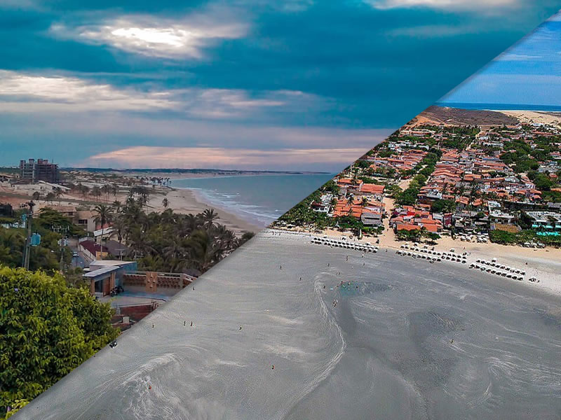 Transfer Fortaleza para Jericoacoara por praias