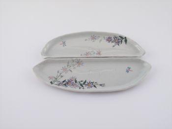 長楕円皿(野菊)