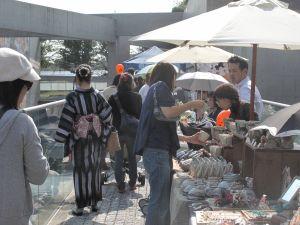 北山ハロウィン手づくりマーケット出店風景