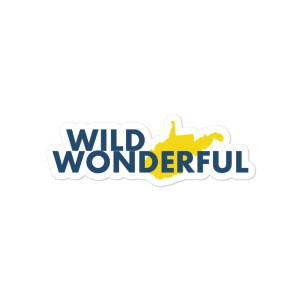 Wild Wonderful WV Bubble-free stickers