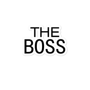 The Boss Bubble-free stickers