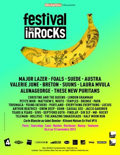 Affiche Festival Inrocks