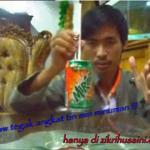 Zik the magician code, angkat tin minuman mengunakan straw yang tegak